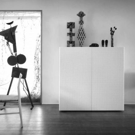 Design příborník 2 dveře bílá, černá nebo zlatá vzor Flora