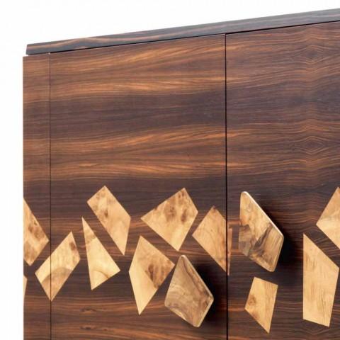 Grilli Zarafa Moderní třídveřový příbor v ořechovém a ebenovém dřevě