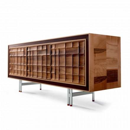 Moderní design Skříň se 3 dveřmi z masivního dřeva Anna