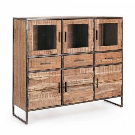 Příborník v průmyslovém stylu v provedení Acacia Wood and Steel Homemotion - Zompo