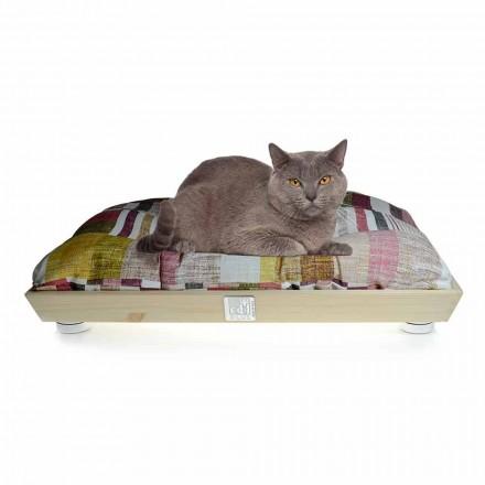 Chovatelská stanice psů a koček z masivního dřeva s omyvatelným polštářem vyrobená v Itálii - Juma