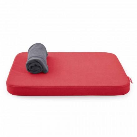 Měkká psí postel s polštářem a fleecovou přikrývkou Made in Italy - Calduccio
