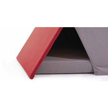 Postel pro psy a kočky ve tvaru stanu s polštářem vyrobeným v Itálii - malý dům