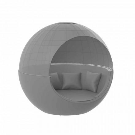 Luxusní kulatý designový zahradní lehátko se slunečníkem - Ulm Moon od Vondom