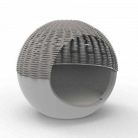 Luxusní zahradní kulatý design s pleteným lanem - Ulm Moon od Vondom