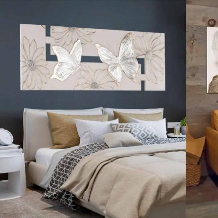 Ručně malovaná dvojitá malba s motýly vyrobená v Itálii Martina