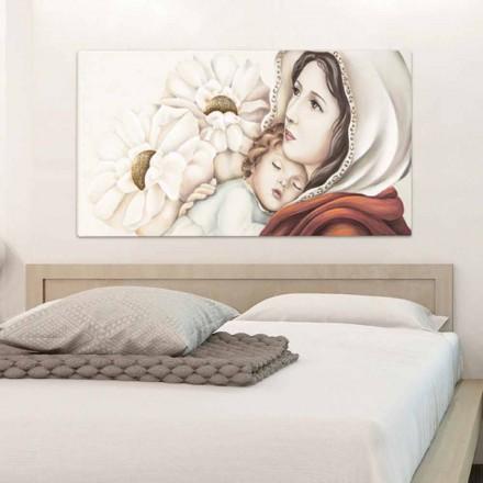 Moderní mateřská malba s dětskými ozdobami ve zlatém listu Scott