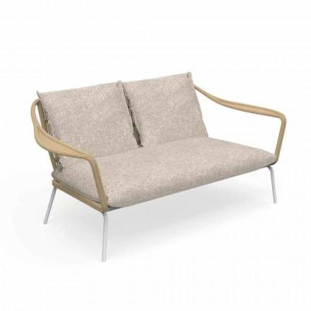 Zahradní pohovka se dvěma sedadly z hliníku a tkaniny - Cruise Alu od společnosti Talenti