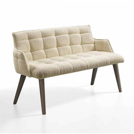 Luxusní pohovka se sedákem potaženým látkou vyrobenou v Itálii - Clera