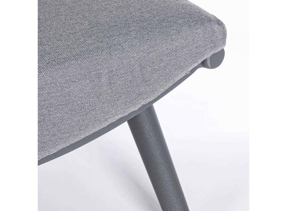 2místná venkovní pohovka z hliníku a lana s polštáři Homemotion - Gillian