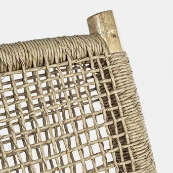 2místná venkovní pohovka z teakových větví a syntetických vláken - Tecno