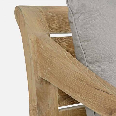 2místná zahradní pohovka v teaku s odnímatelnými polštáři, Homemotion - Harry