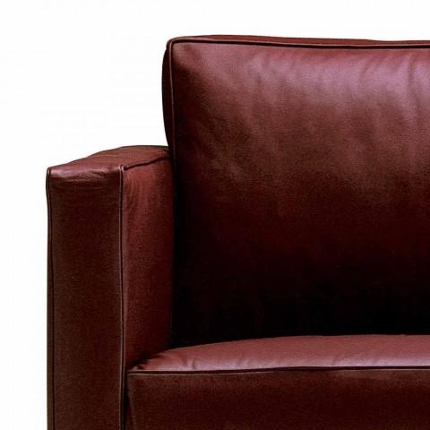 2místná pohovka polstrovaná a čalouněná jemnou kůží Made in Italy - Centauro