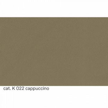 2místná pohovka potažená kůží s dřevěnými nožičkami vyrobená v Itálii - Idra