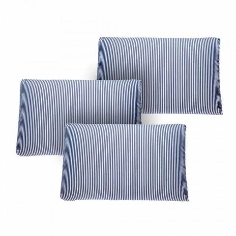 3místná venkovní pohovka v bílém nebo černém hliníkovém a modrém polštáři - Cynthia
