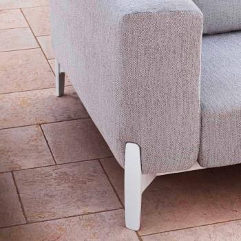 3místná venkovní pohovka v designu hliníku a textilie ve 3 provedeních - Filomena