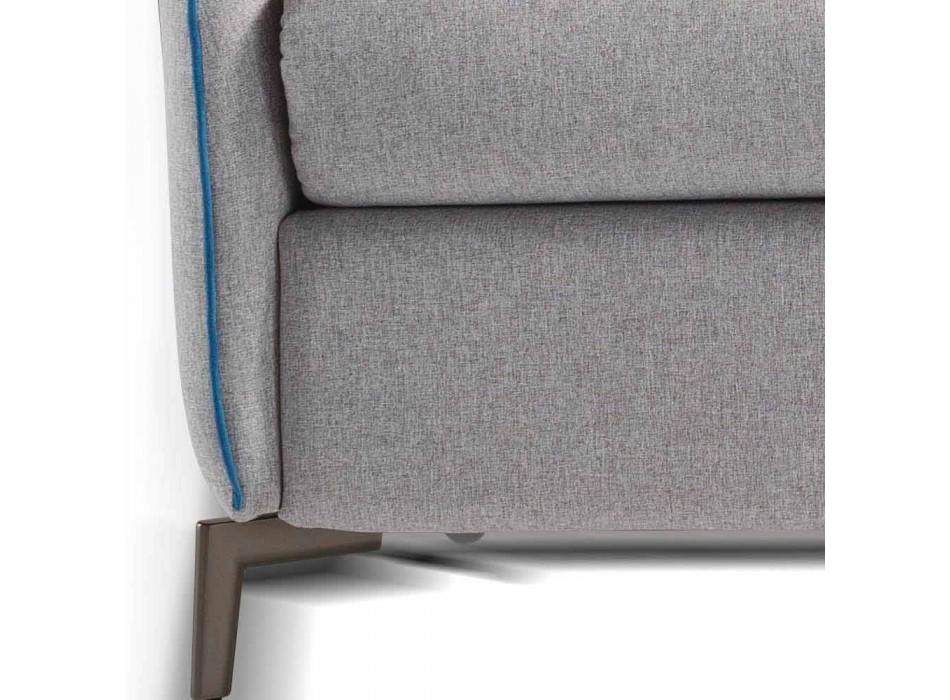 3místná designová pohovka L.185cm látka / ekokůže vyrobená v Itálii Erica