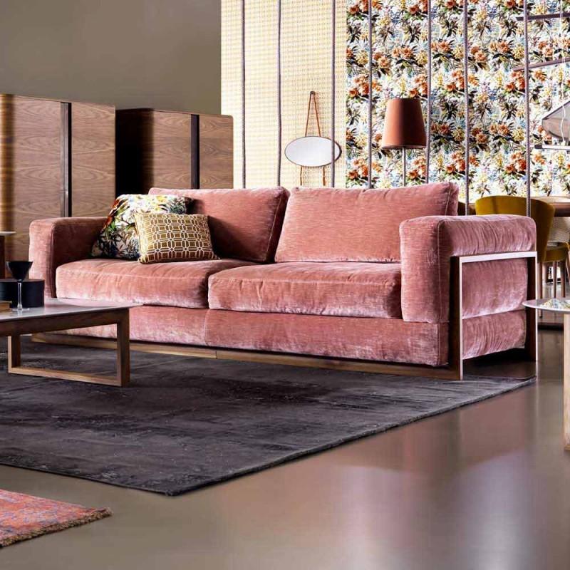 3-místná čalouněná designová pohovka Grilli York vyrobená v Itálii