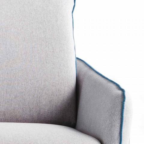 3místná maxi pohovka L205 cm, moderní design z ekokože / látky Erica