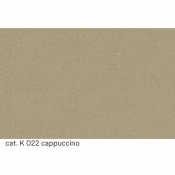 3místná pohovka potažená kůží s ořechovými nožkami Made in Italy - Alessandria