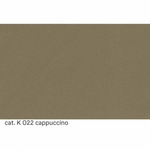 3místná pohovka čalouněná kůží s lakovanými nožičkami, vyrobená v Itálii - Idra