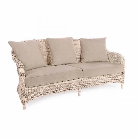 Zahradní pohovka se 3 sedadly v Homemotion s pleteným vláknem - Casimiro