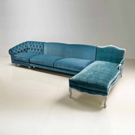 Rohová sedací souprava luxusní klasické konstrukce, vyrobený v Itálii, Narciso