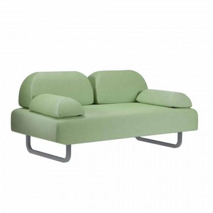 Venkovní pohovka s 2 sedadly v textilu a kovu Made in Italy Design - Selia