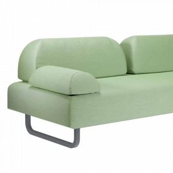 3 sedačka Design pohovka v kovu a textilie Vyrobeno v Itálii - Selia