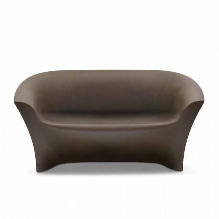Venkovní designová pohovka z barevného polyethylenu vyrobená v Itálii - Conda