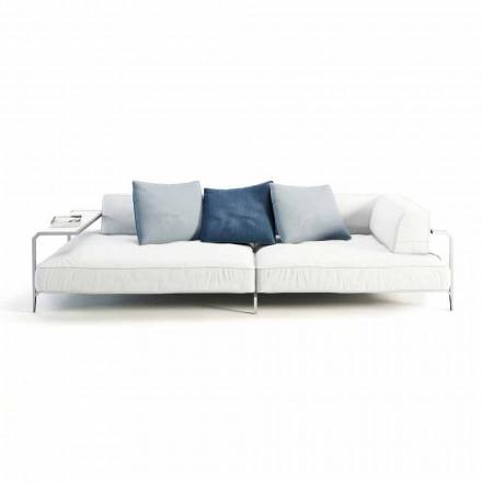 Venkovní pohovka čalouněná v moderním designu tkaniny vyrobené v Itálii - Arkansas
