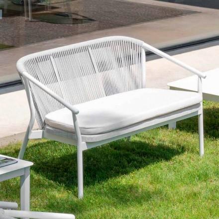 Venkovní stohovatelná potahová textilie se dvěma sedačkami - Smart by Varaschin