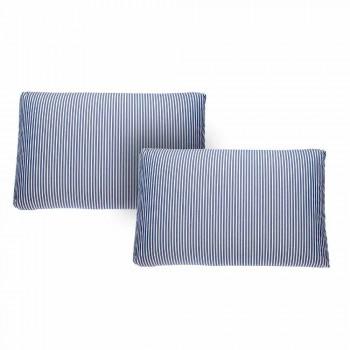 2místná zahradní pohovka v bílém nebo černém hliníkovém a modrém polštáři - Cynthia