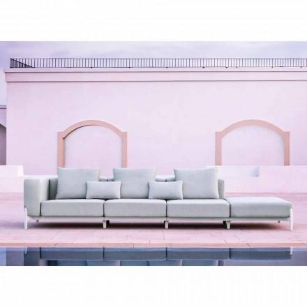 3místná zahradní pohovka s luxusním pouzdrem z hliníku a látky - Filomena