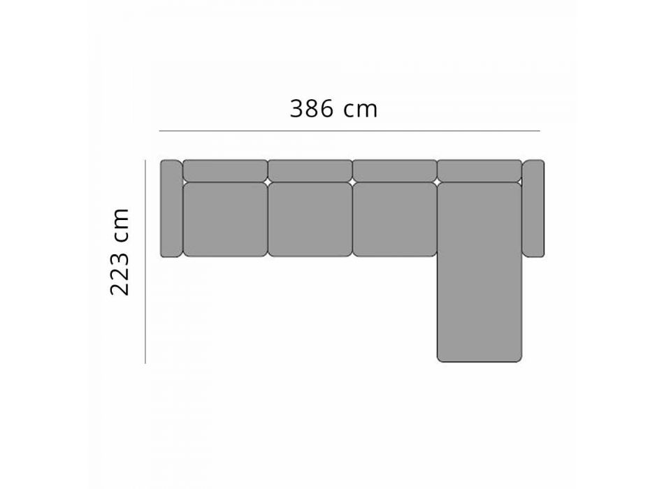 3místná zahradní pohovka s lenoškou z hliníku a látky - Filomena