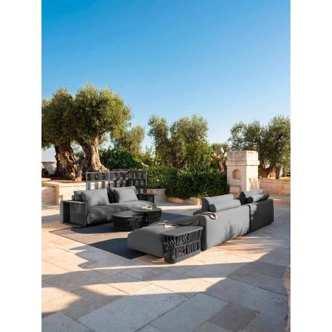 3místná zahradní pohovka v bílé, béžové nebo šedé látce - Cliff Decò Talenti