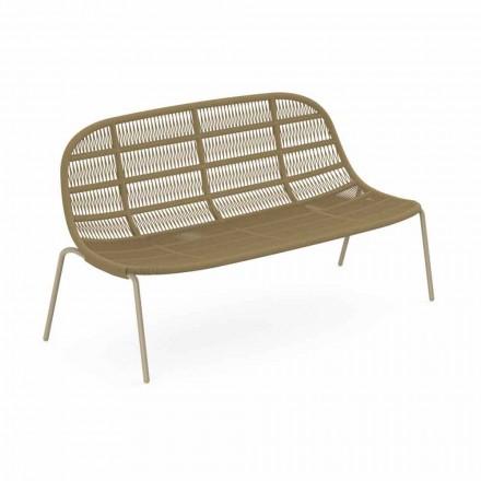 Zahradní pohovka se dvěma sedadly z hliníku a tkaniny - Panama od Talenti