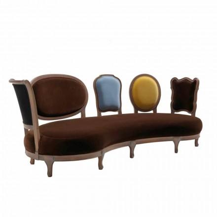 Pohovka luxusní design, 5 z masivního dřeva záda, made in Italy, Manno