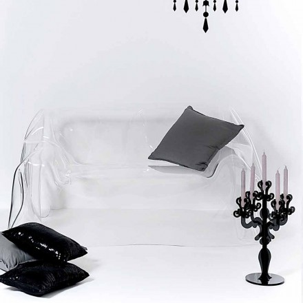 Moderní sofa provedení plexisklo Jolly, made in Italy