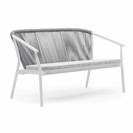 Zahradní skládací pohovka se dvěma sedadly z hliníku a tkaniny - inteligentní od společnosti Varaschin