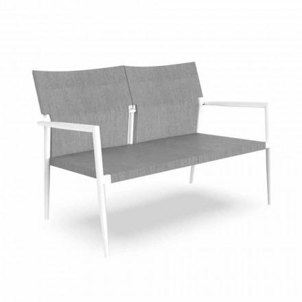 Zahradní pohovka se dvěma sedadly v hliníku a textilu - Adam od Talenti
