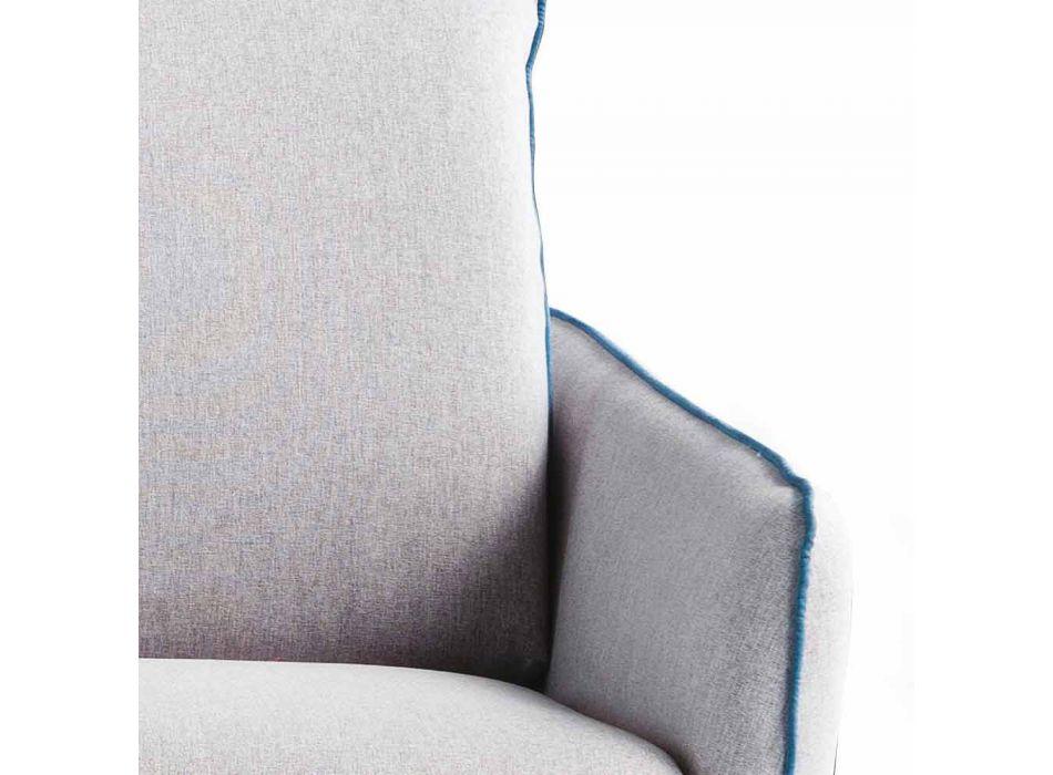 Moderní designová dvoumístná pohovka L.145 cm ekokoža / látka Erica