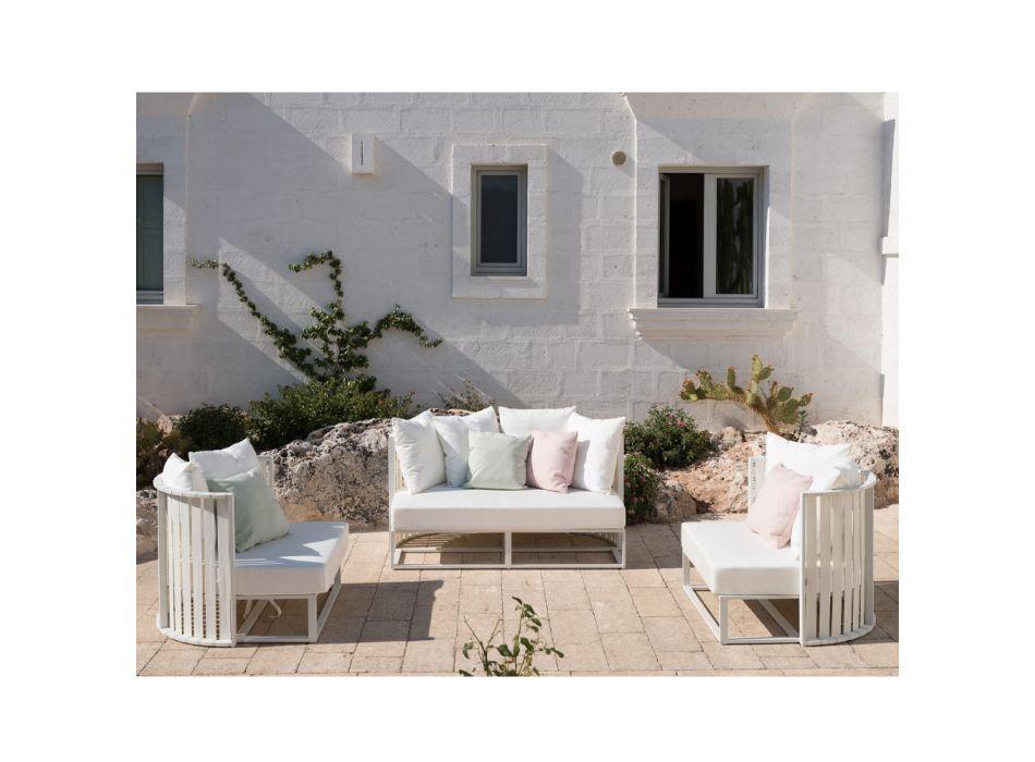 2místná venkovní pohovka z hliníku s lany v luxusním designu 3 povrchové úpravy - Julie