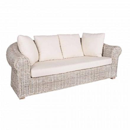 Pohovka pro vnitřní nebo vnitřní sedadla 3 v Rattan Homemotion - Francioso