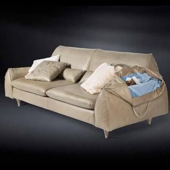 Masivního dřeva a kožená sedací souprava s opěrkami Eve pro objekty