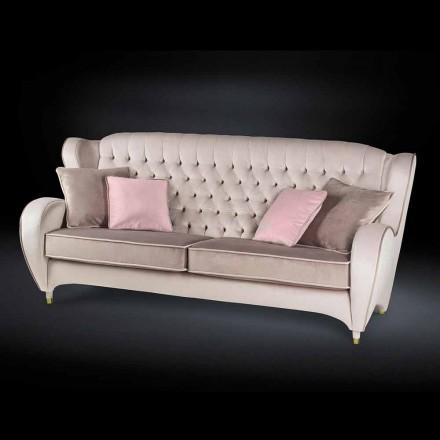 Sofa samet prošívaná styl práce Nový classic Schinke