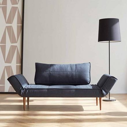 Moderní design rozkládací pohovka Zeal by Innovation z čalouněné tkaniny