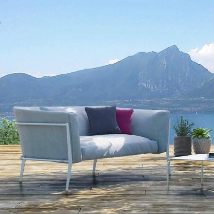 Moderní venkovní nebo vnitřní pohovka s odnímatelným designem Vyrobeno v Itálii - Carmine