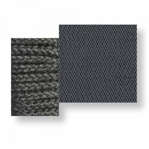 Centrální modulární venkovní pohovka v textilu a laně - Cliff Decò od Talenti