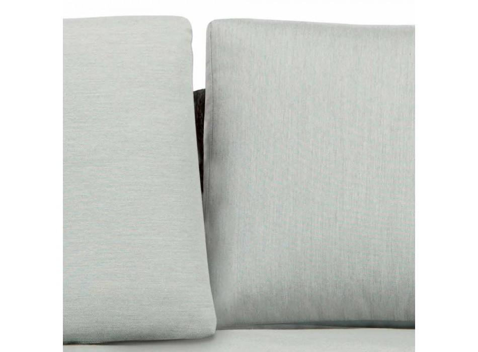 3 sedačka venkovní pohovka z kovu, lana a tkaniny vyrobené v Itálii - Mari